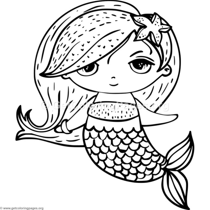 700x700 Cute Mermaid Coloring Pages