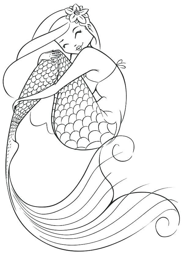 595x842 Cartoon Mermaid Coloring Pages Vanda