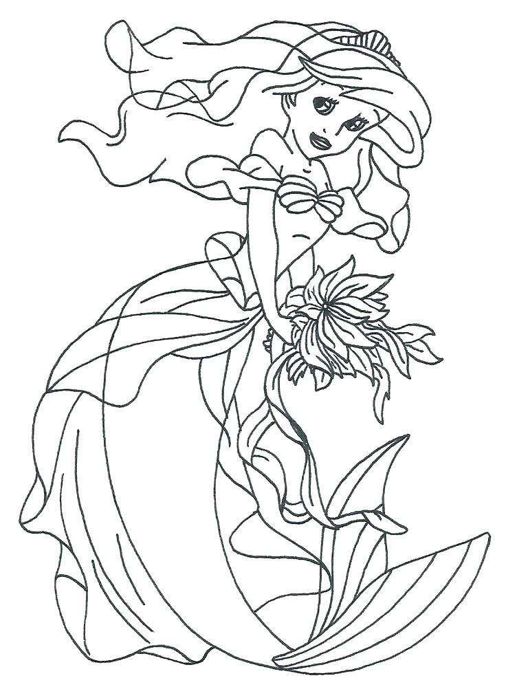 736x999 Color Page Color Page Princess Mermaid Cartoon Coloring Pages