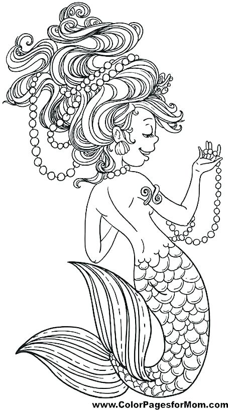 454x817 Fresh Mermaid Coloring Pages For Adults Or Mermaid Colouring Page