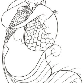 268x268 Mermaid Coloring Pages For Adults Give The Best Coloring Pages