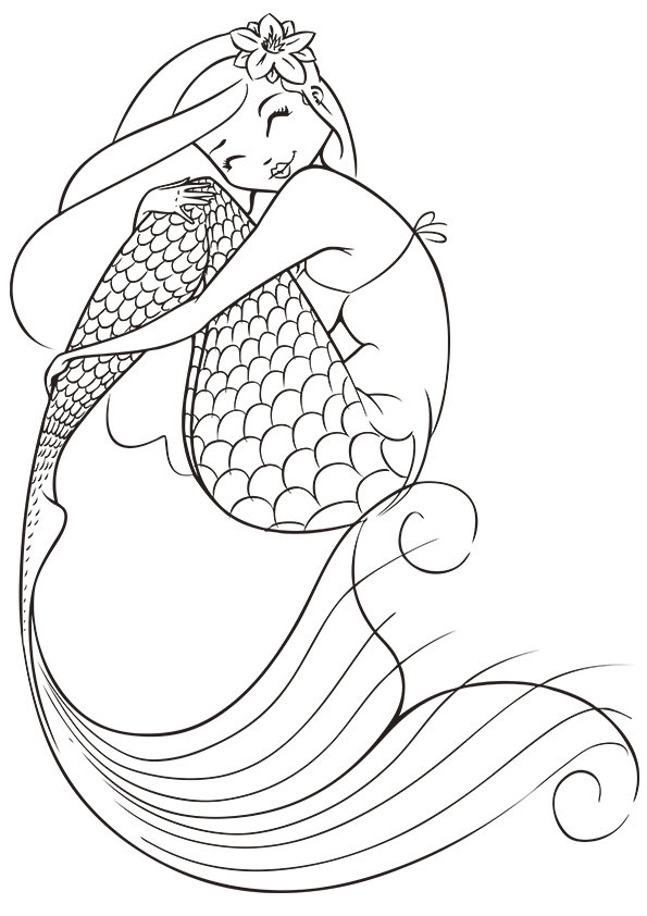 595x842 Printable Mermaid Colouring Pages