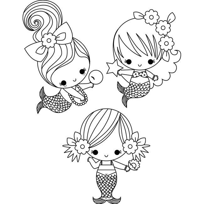 650x650 Coloring Mermaid Coloring Pages Easy
