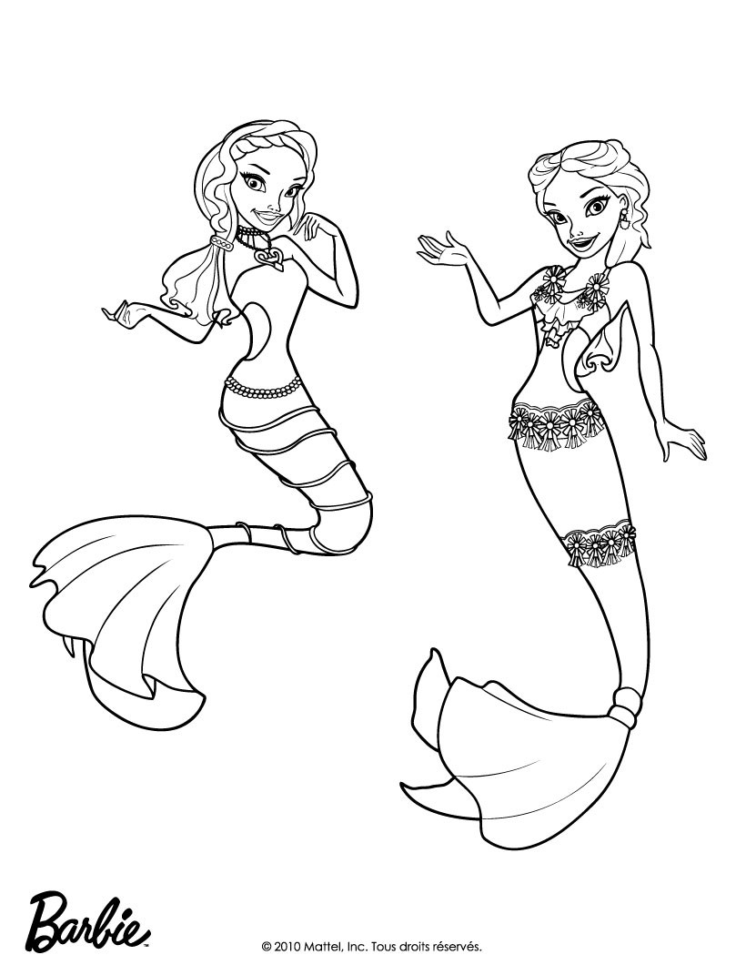 820x1060 Easy Barbie Mermaid Coloring Pages
