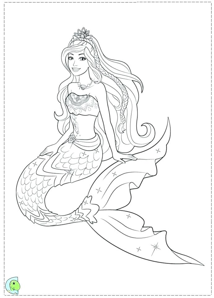 691x960 Mermaid Coloring Pages Inspiring Barbie Mermaid Coloring Pages