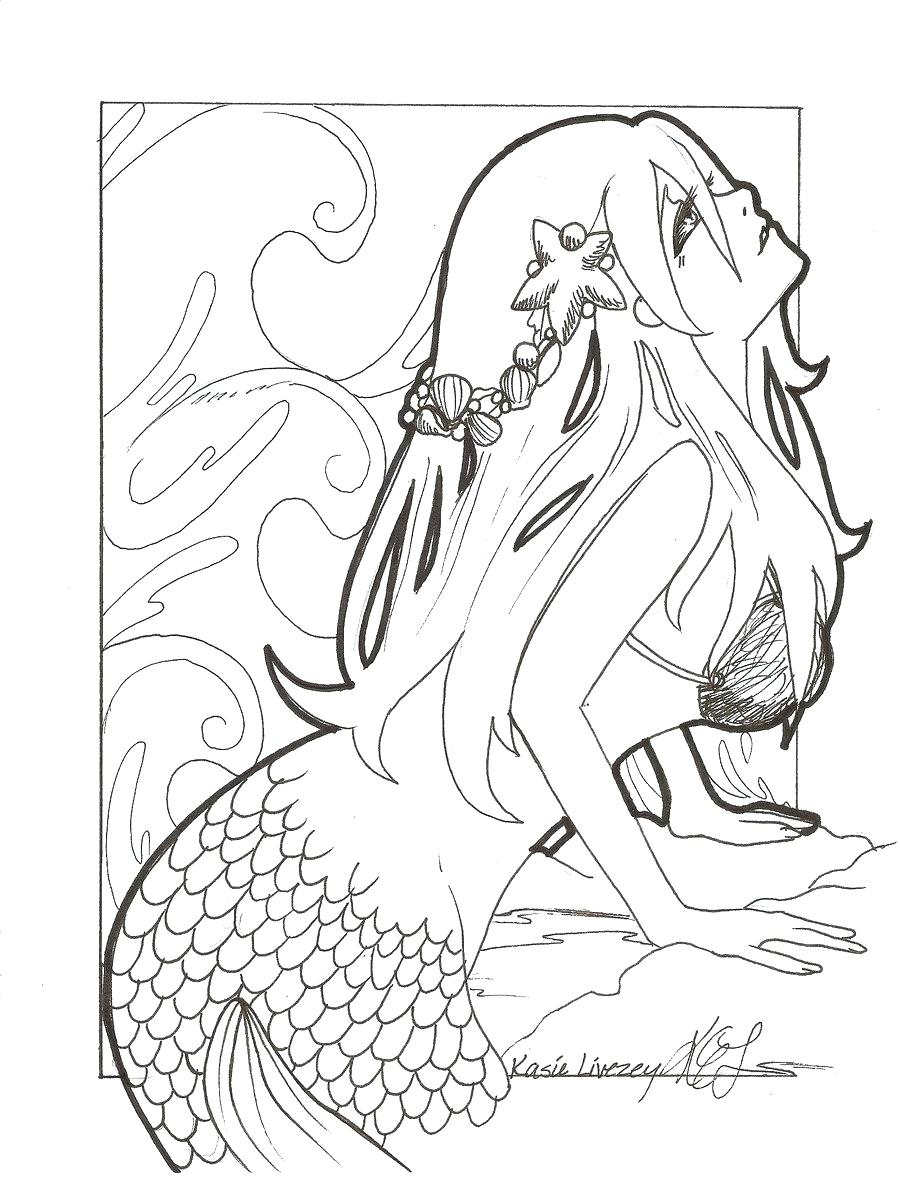 900x1183 Coloring Page Mermaid Color Pages Easy Anime Coloring Tone