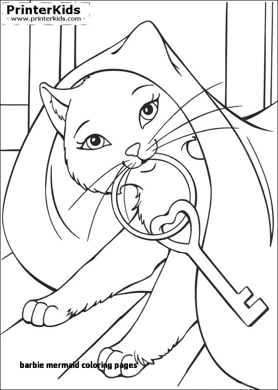 567x794 Barbie Mermaid Coloring Pages