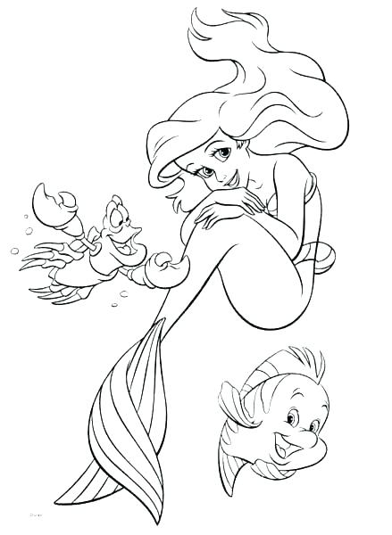 439x600 Little Mermaid Coloring Pages Games Kids Coloring Mermaid Coloring