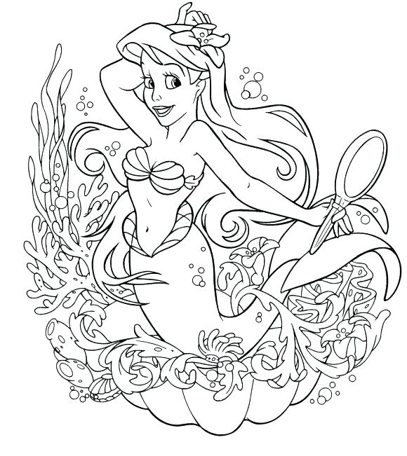 580x651 Princess Mermaid Coloring Pages Coloring Page Coloring Pages