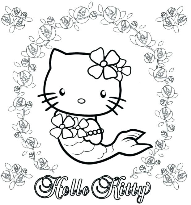 618x664 What Color Is Hello Kitty Unique Hello Kitty Mermaid Coloring