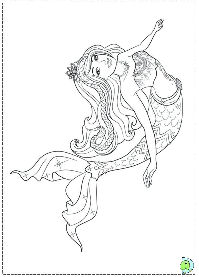 691x960 Barbie Mermaid Colouring Games Tale Coloring Pages