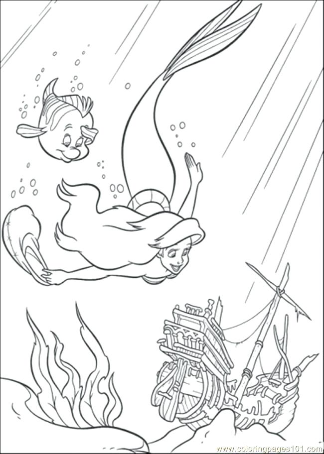 650x912 Little Mermaid Coloring Pages Online Coloring Pages And Flounder