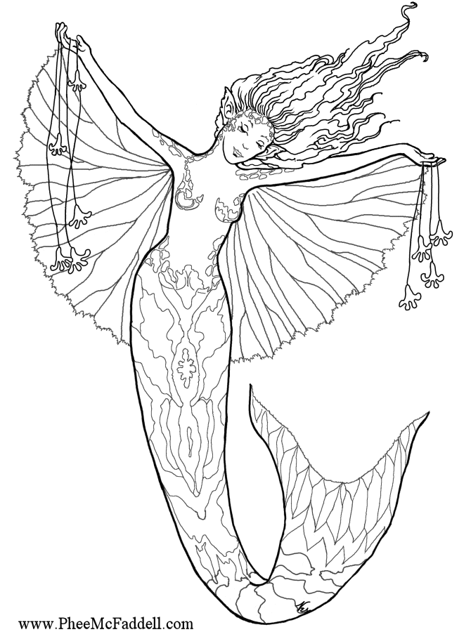 Mermaid Coloring Pages To Print At Getdrawings Com Free For