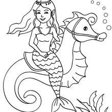 220x220 Great Mermaid And Nice Mermaid And Dolphin Coloring Pages