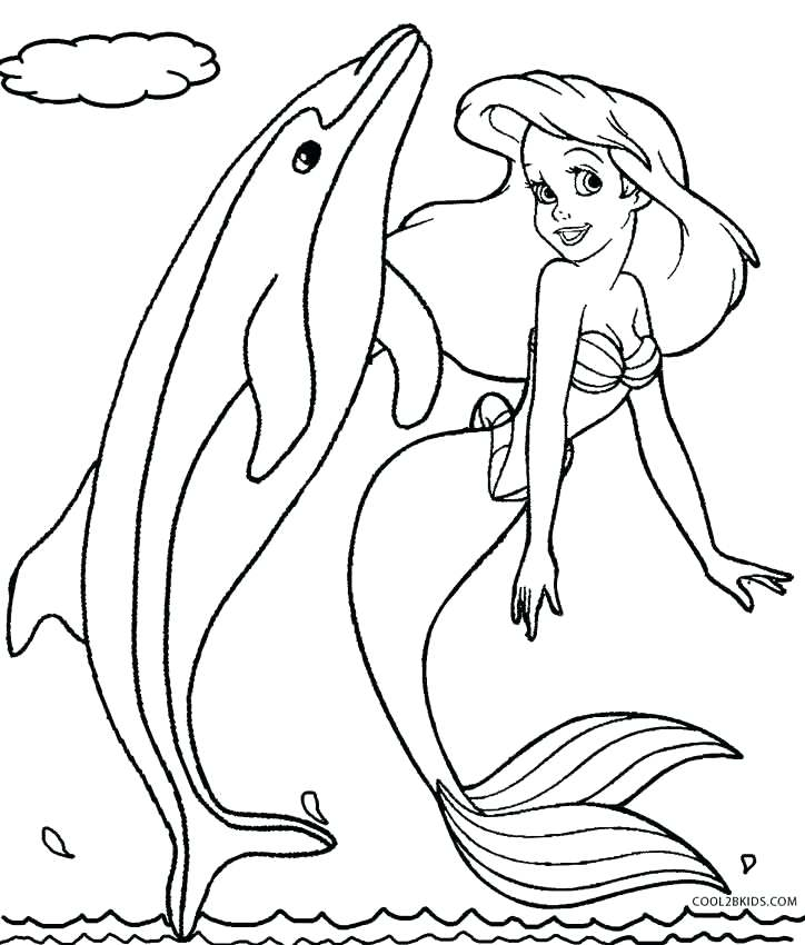 724x850 Mermaid And Dolphin Coloring Pages Dolphin Color Pages Mermaid