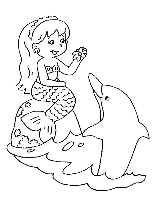 600x800 Mermaid And Dolphin Coloring Pages Mermaid And Dolphin Coloring