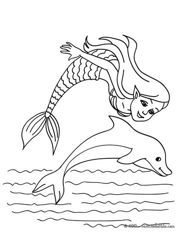 graphic regarding Printable Dolphin Coloring Pages referred to as Mermaid Dolphin Coloring Web pages at  No cost for