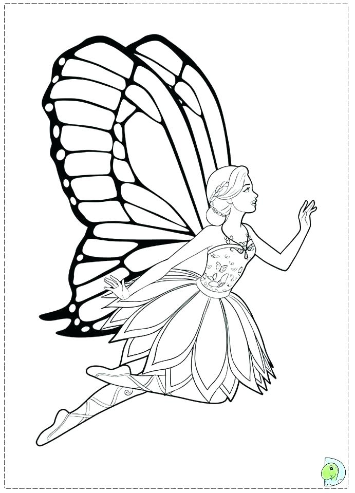 691x960 Barbie And The Fairy Princess Coloring Page Mermaid Fairy Princess