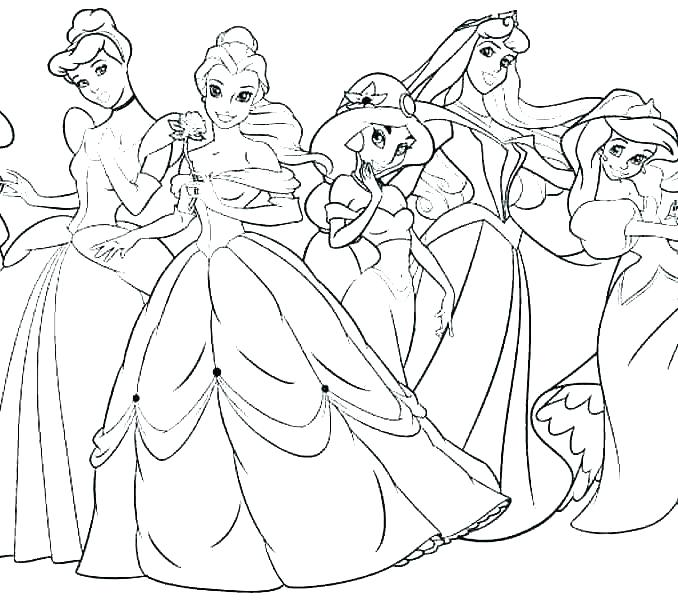 678x600 Fairy Princess Coloring Pages Barbie Princess Coloring Page