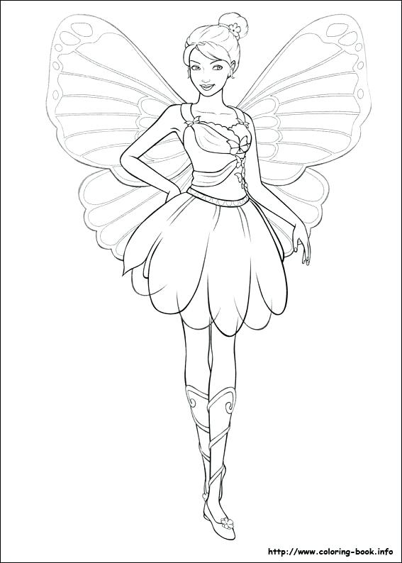 567x794 Barbie Fairy Coloring Pages Barbie Fairy Coloring Sheets Barbie