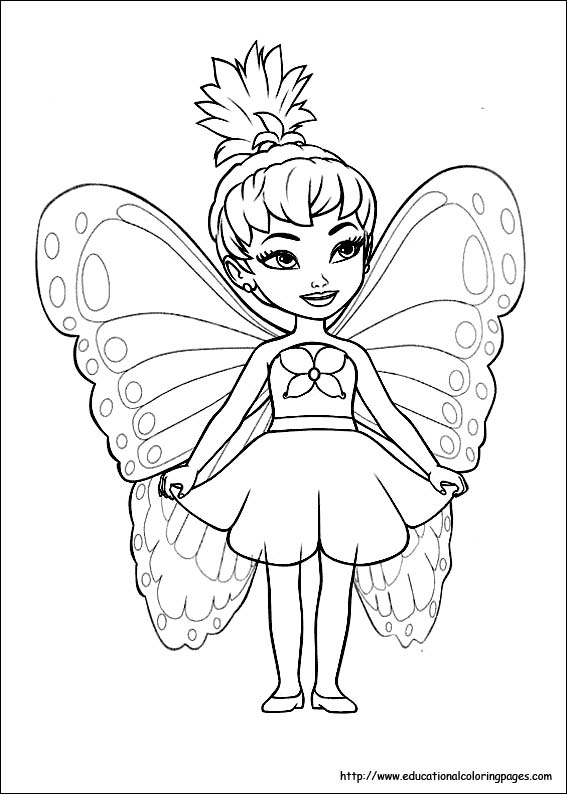 567x794 Fairies Coloring Pages Free For Kids