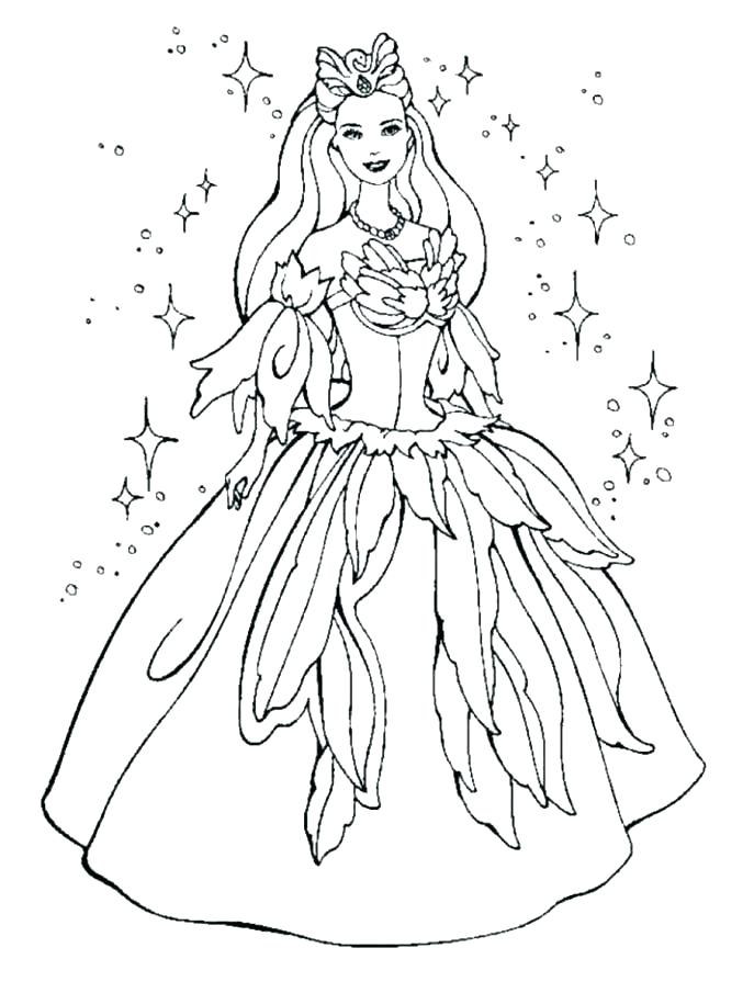687x905 Fairy Princess Coloring Page Coloring Pages Of Barbie Princess