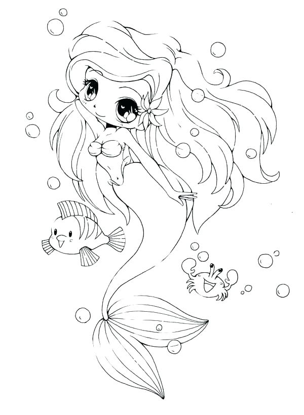 Mermaid Girl Coloring Pages