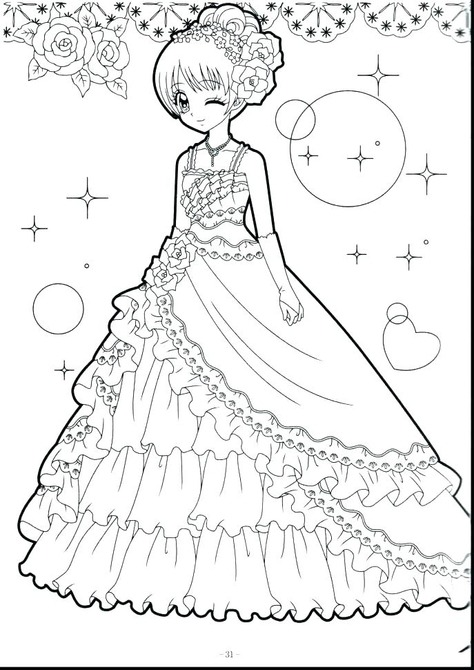 687x970 Coloring Pages Anime Cute Girl Colouring Pages Anime Coloring