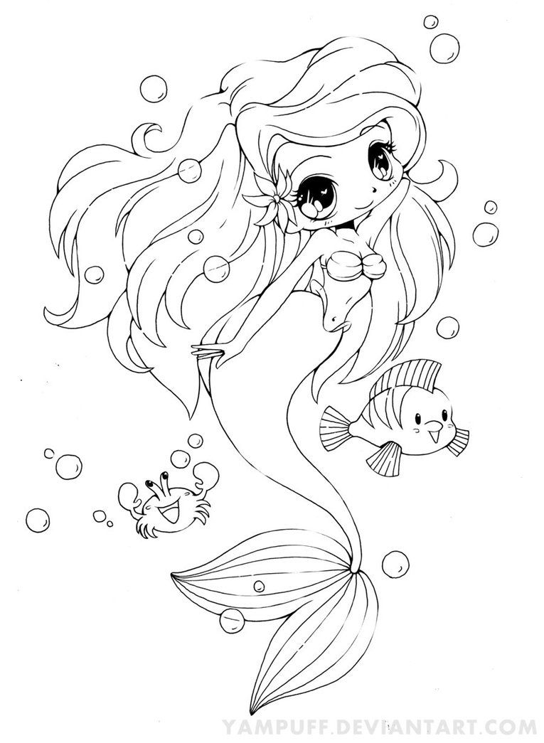 765x1045 Cool Ariel The Little Mermaid Chibi