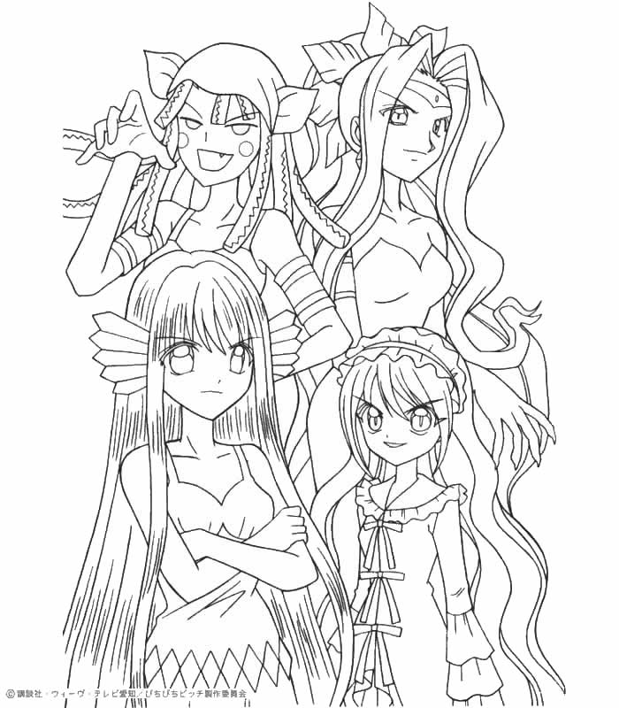 700x800 Mermaid Melody Coloring Pages