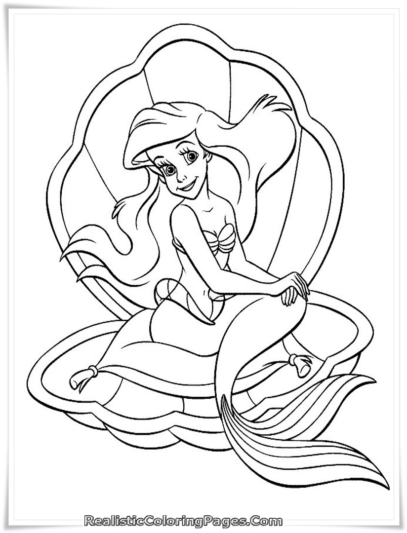 824x1080 Mermaid Tale Printable Girl Coloring Pages