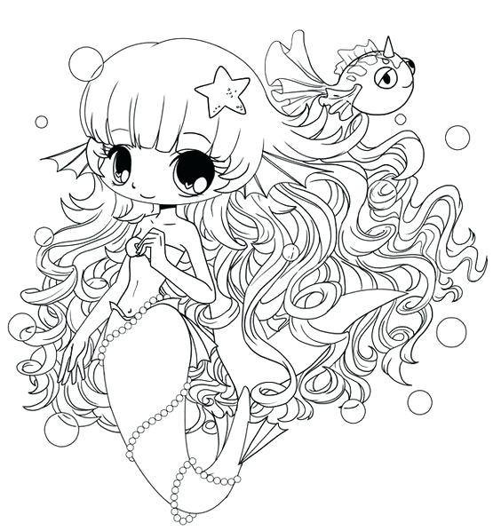 564x598 Chibi Coloring Pages Coloring Pages Mermaid A Cute Chibi Girl