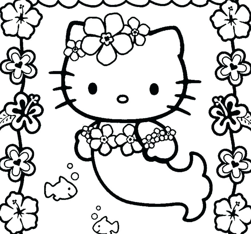 878x818 Hello Kitty Mermaid Coloring Pages Coloring Book Prixducommerce