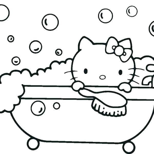 600x600 Hello Kitty Mermaid Coloring Pages Hello Kitty Coloring Pages