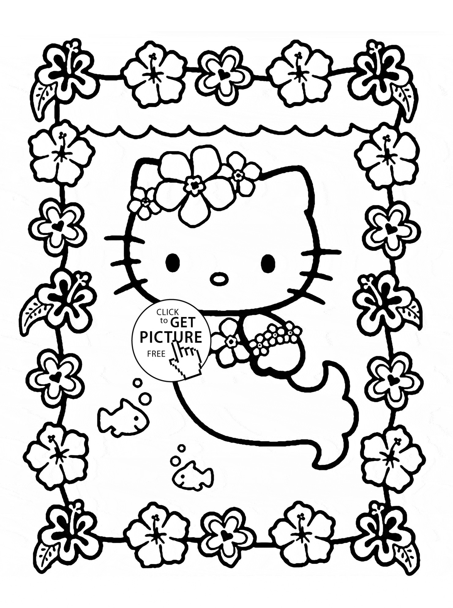 1480x1985 Hello Kitty Turkey Coloring Pages Mermaid Gallery Free Books