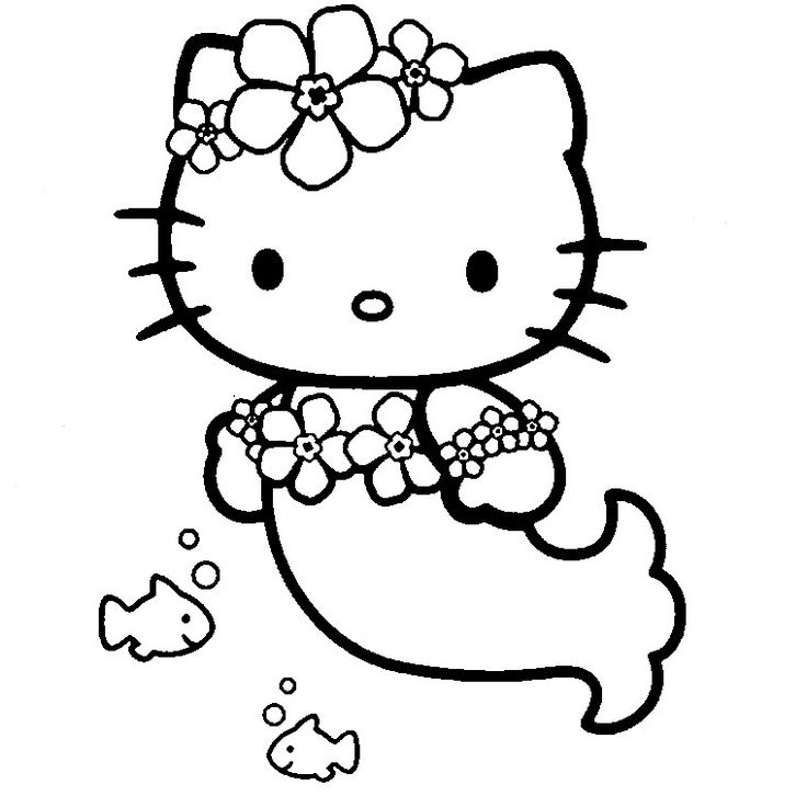 736x736 Hello Kitty Mermaid Coloring Pages To Download And Print For Free