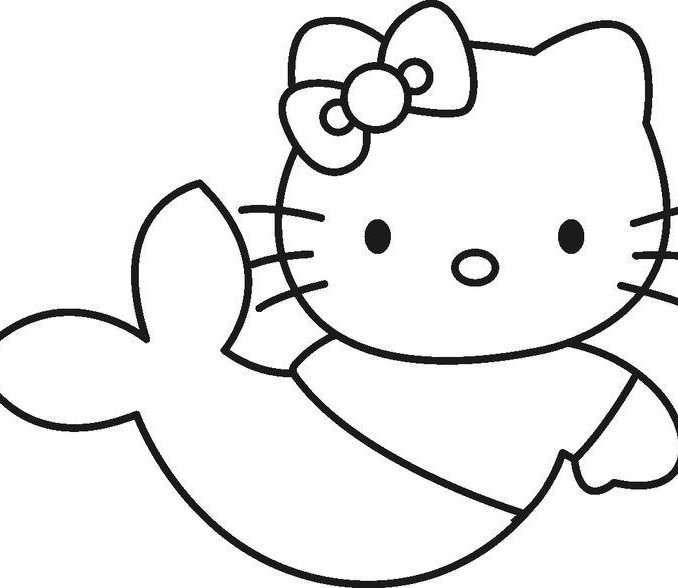 678x588 Simple Coloring Sheets Simple Hello Kitty Coloring Pagess