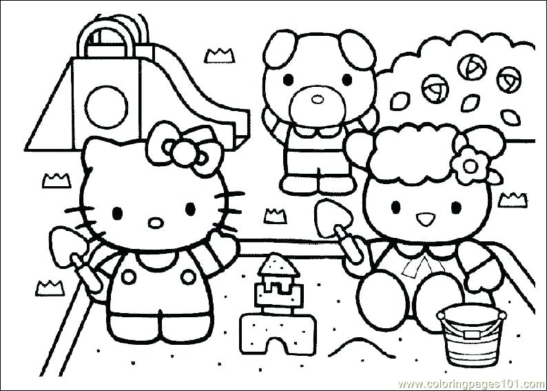 794x567 Hello Kitty Coloring Page Or Home A Coloring Pages A Cartoon