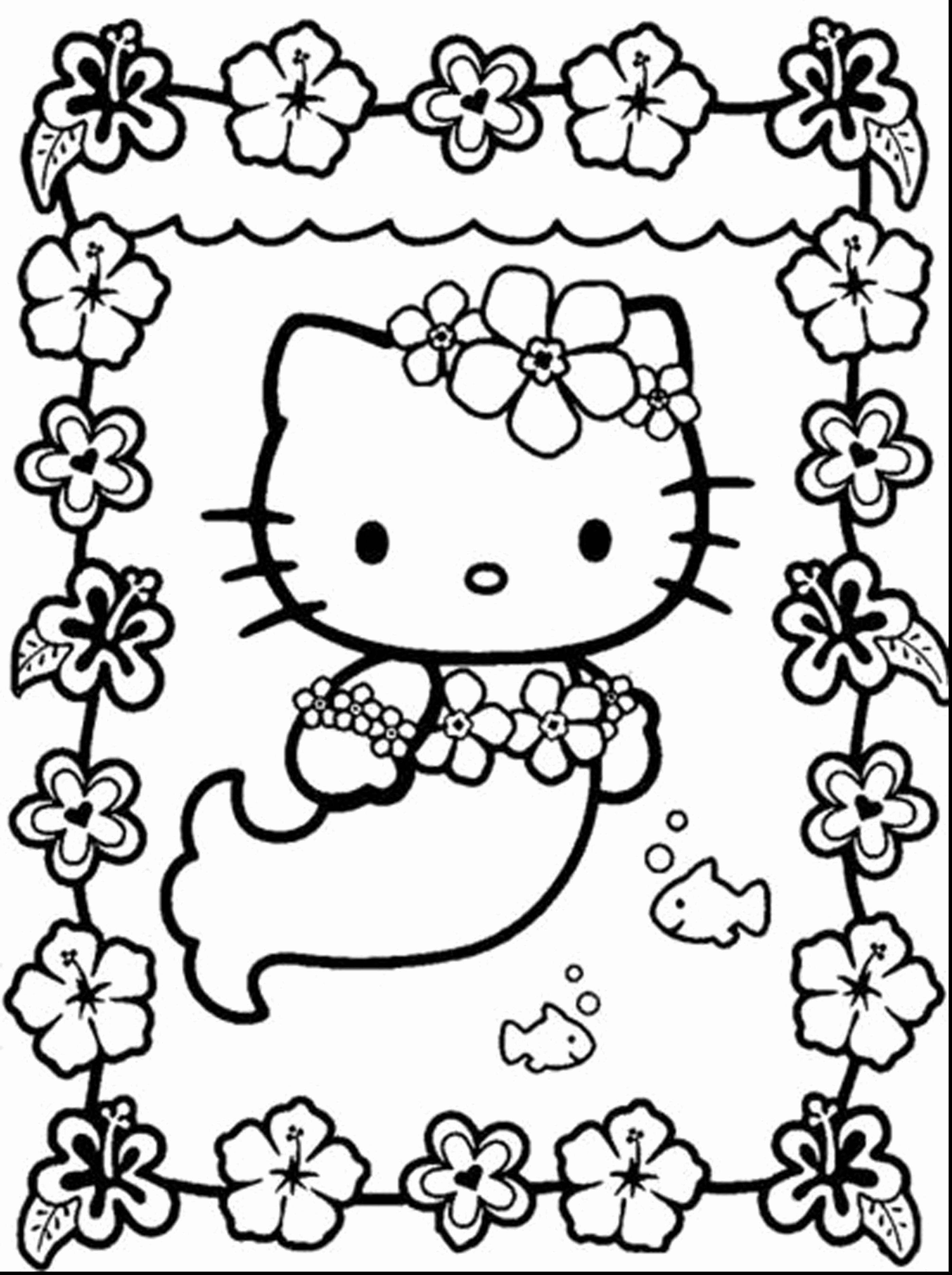 2805x3758 Hello Kitty Coloring Pages Free Printable Inspirational Stunning