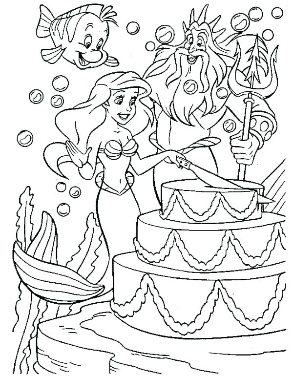 Mermaid Princess Coloring Pages