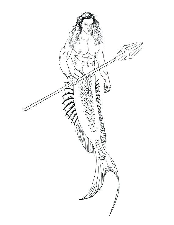 merman anime drawing coloring page   Drawings, Sketches, Anime ...   737x570
