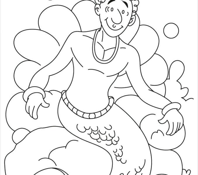 Merman prince coloring pages - Hellokids.com   600x678