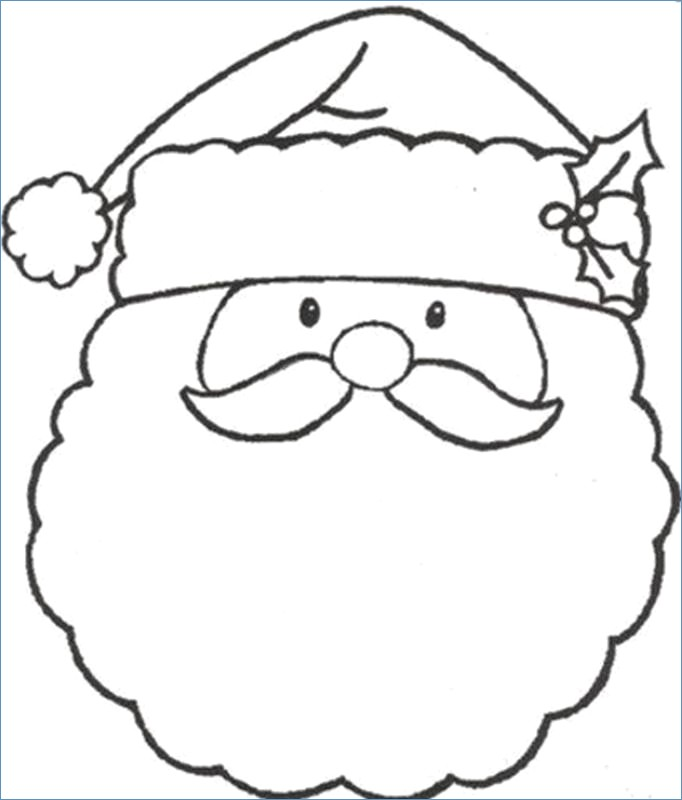 682x800 Merry Christmas Coloring Page For Kids