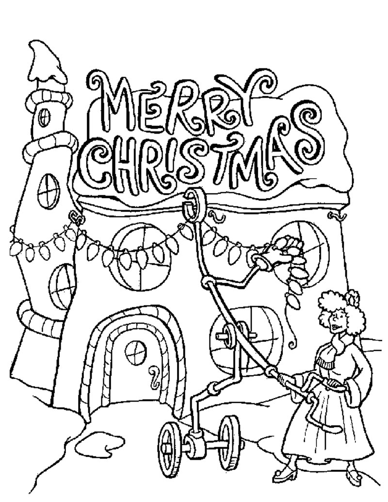 800x1034 Awesome Merry Christmas Coloring Pages To And Print For Free