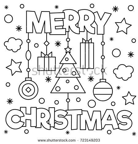 450x470 Merry Christmas Coloring Pages