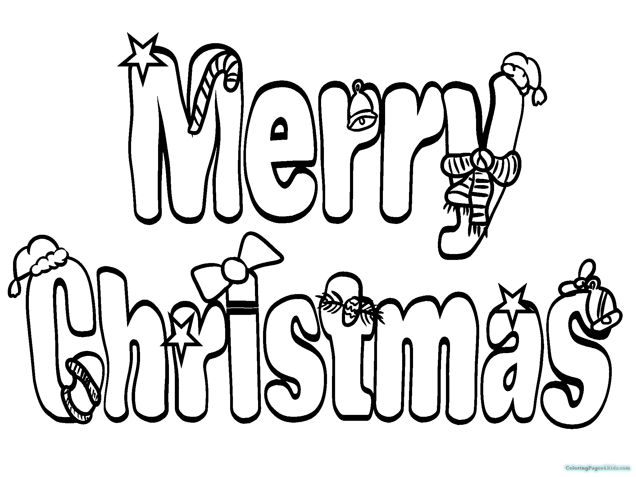 2048x1536 Merry Christmas Word Coloring Pages Coloring Pages For Kids