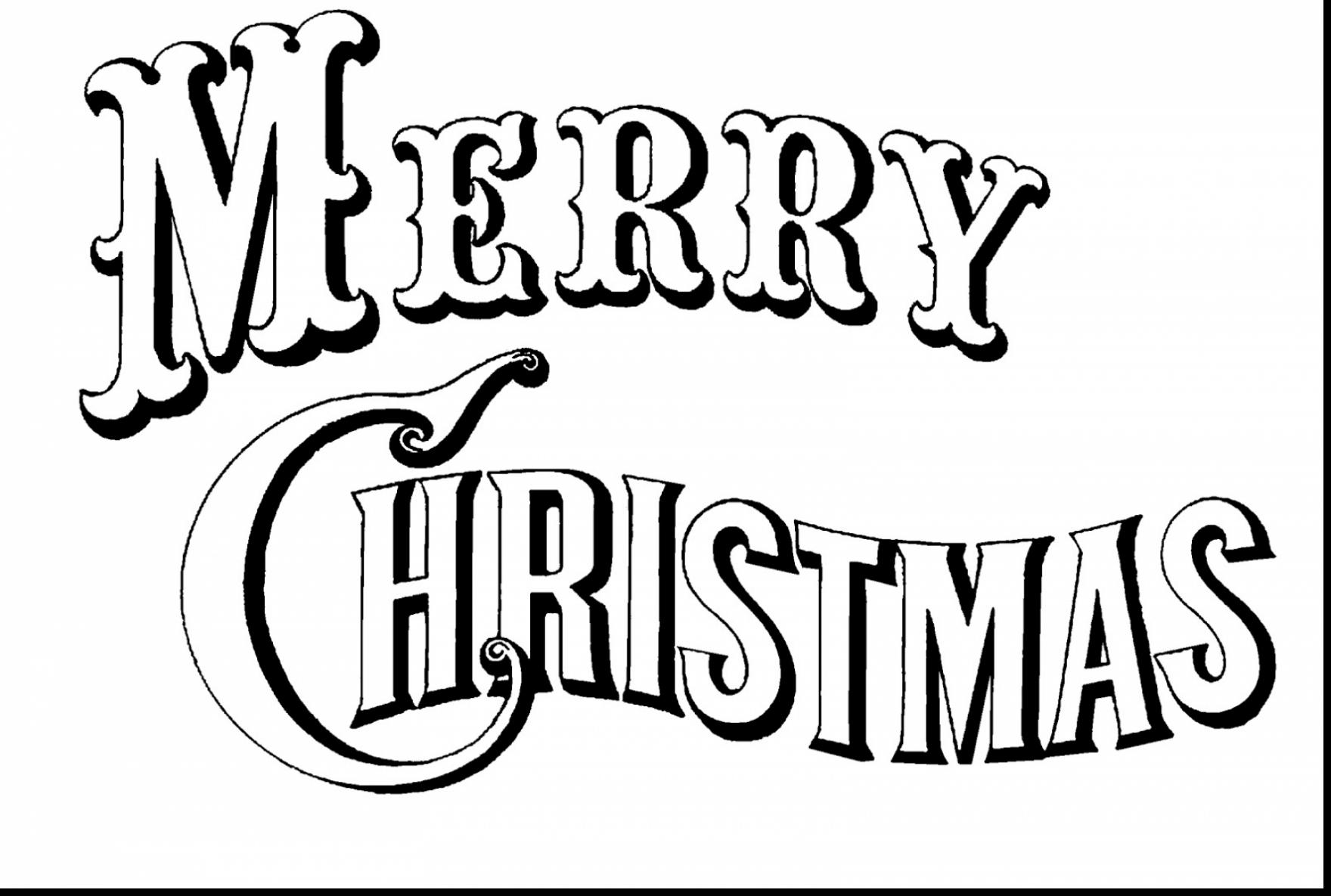 1760x1185 Surprising Merry Christmas Coloring Pages Dokardokarz Net Within