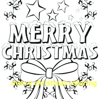 350x350 Merry Christmas Coloring Page