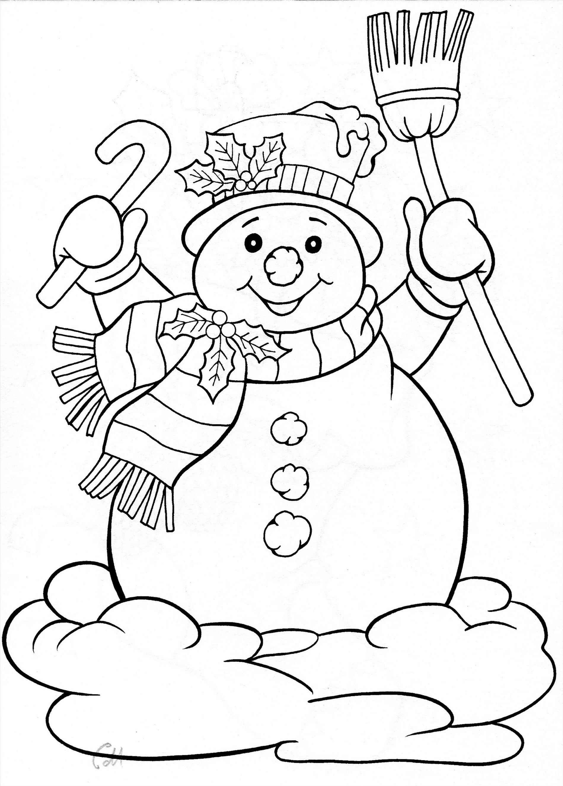 1899x2650 Christmas Coloring Pages Snowman
