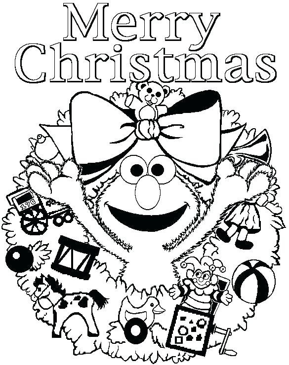 585x740 Lovely Merry Christmas Coloring Pages For Kids Or Coloring Sheets